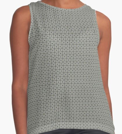 Dots  & Squares in Gray Sleeveless Top