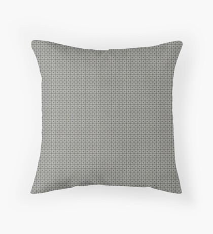 Dots  & Squares in Gray Throw Pillow