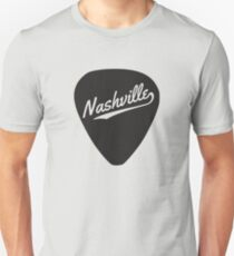 Nashville written on a guitar pick Unisex T-Shirt