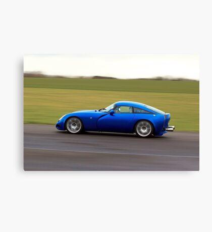 Blue racing car TVR Canvas Print