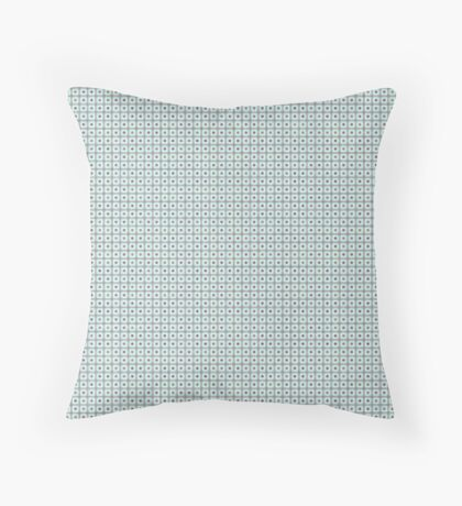 Squares & Dots in Light Blue by Julie Everhart Throw Pillow