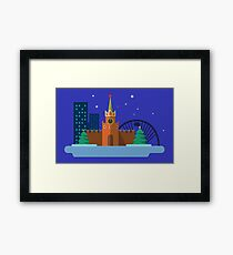 Moscow item graphic Framed Print