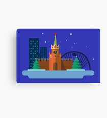 Moscow item graphic Canvas Print