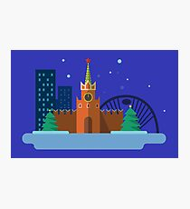 Moscow item graphic Photographic Print