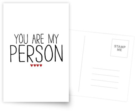 YOU ARE MY PERSON by funkythings