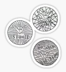 SHAKA STICKERS Sticker