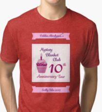 Debbie Abrahams Mystery Blanket Club 10th Anniversary Tour Tri-blend T-Shirt
