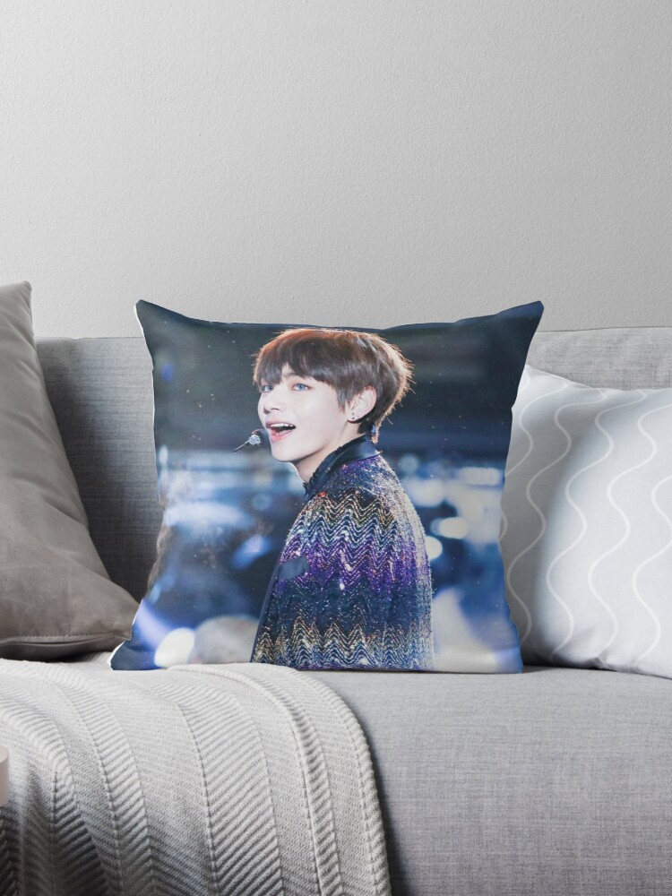 Quot Bts V Quot Throw Pillows By Evelien Bosscher Redbubble