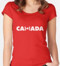 Canada 150th Anniversary Women's Fitted Scoop T-Shirt