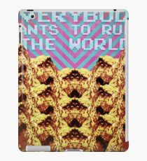 Everybody wants to rule the world iPad Case/Skin