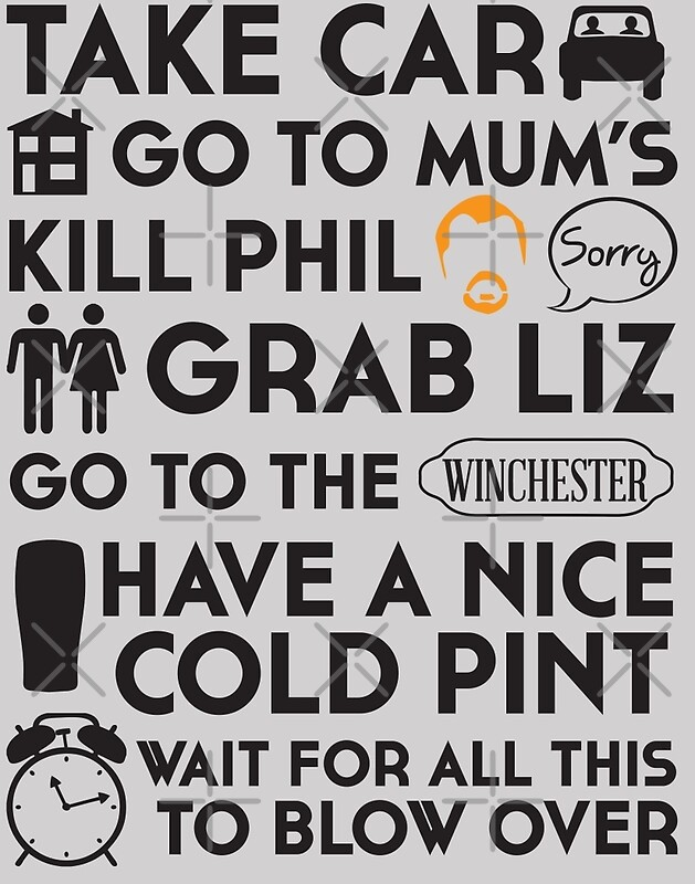 """SHAUN OF THE DEAD THE PLAN"" Posters by thischarmingfan ..."