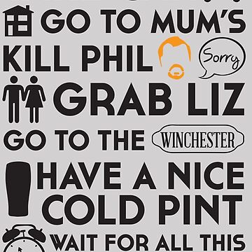 SHAUN OF THE DEAD THE PLAN by thischarmingfan