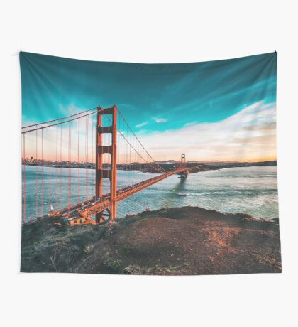 Golden Gate Bridge, San Francisco, California - Photography Wall Tapestry