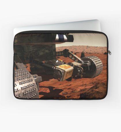 Eine Nahansicht des Arms auf NASAs Mars 2003 Rover. Laptoptasche