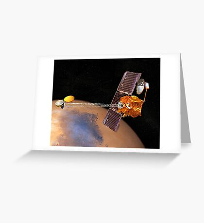 Künstlerische Wiedergabe von Mars Rover. Grußkarte
