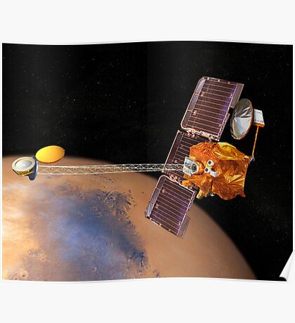 Künstlerische Wiedergabe von Mars Rover. Poster