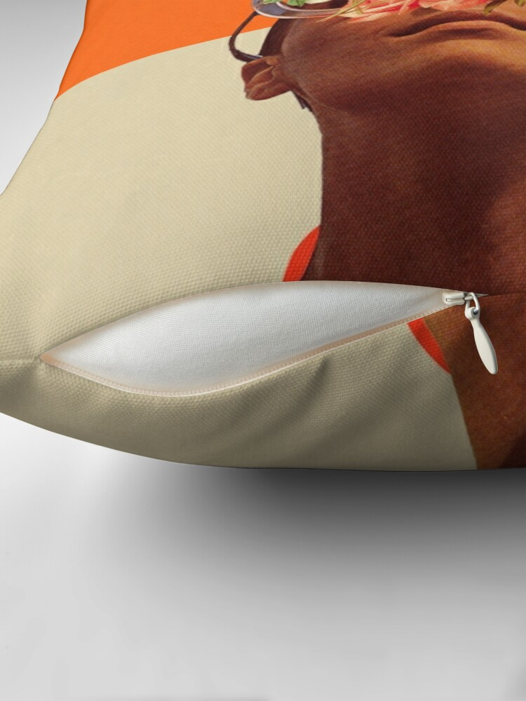 Alternate view of The Unexpected Throw Pillow