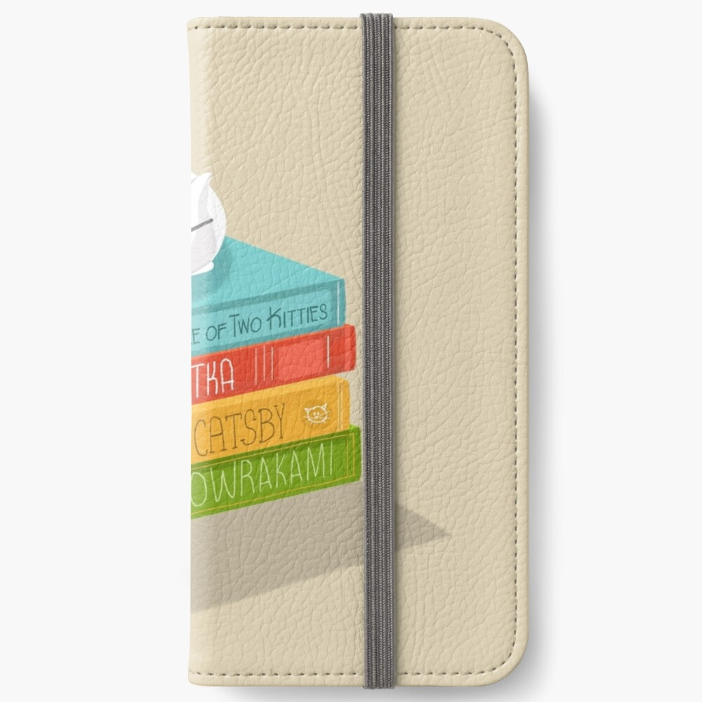 The Cat Loves Books iPhone Wallet