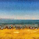 People at the beach by ashishagarwal74