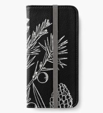 Britton And Brown Illustrated flora of the northern states and Canada 0874 Juniperus communis drawing iPhone Wallet/Case/Skin