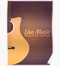 Live music. Guitar. Poster