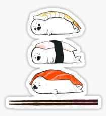 Sashimi, except it's baby Harp Seals Sticker