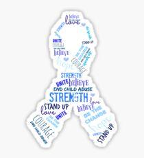 Child Abuse Awareness Sticker