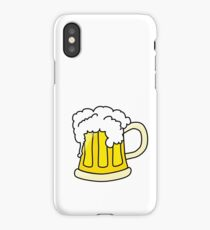 Funny full glass beer cartoon iPhone Case/Skin