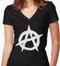 PIXEL PUNX Women's Fitted V-Neck T-Shirt