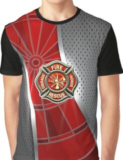 Firefighter Darts Shirt Graphic T-Shirt