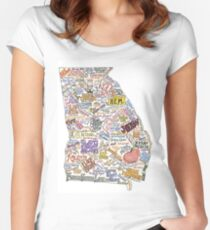 Georgia Music Map Women's Fitted Scoop T-Shirt