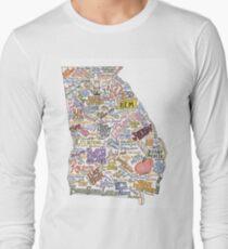 Georgia Music Map Long Sleeve T-Shirt