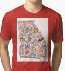 Georgia Music Map Tri-blend T-Shirt