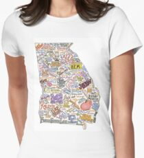 Georgia Music Map Women's Fitted T-Shirt