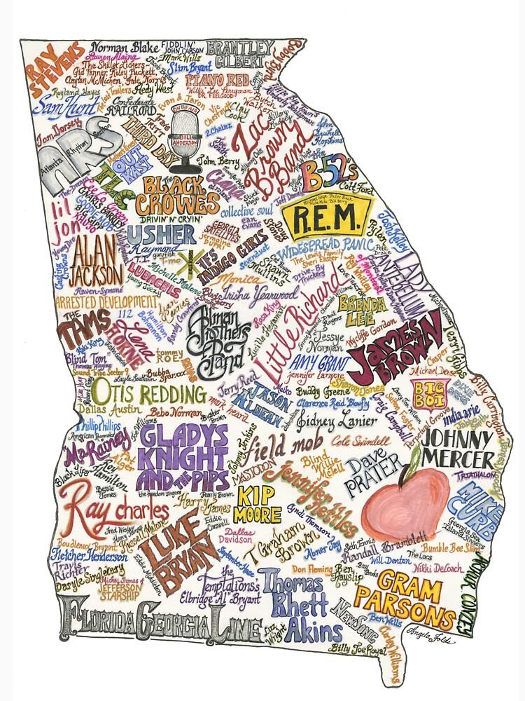 Georgia Musik Karte von creativedaycafe