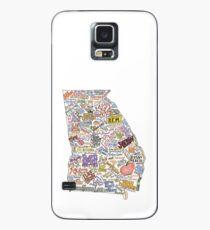 Georgia Musik Karte Hülle & Klebefolie für Samsung Galaxy