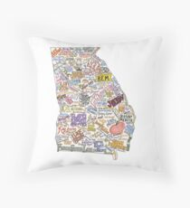 Georgia Music Map Throw Pillow