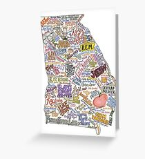Georgia Music Map Greeting Card