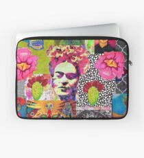 Frida Kahlo and Mexico Collage Pattern Laptop Sleeve