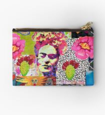 Frida Kahlo and Mexico Collage Pattern Studio Pouch