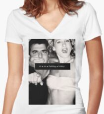 SEX AND THE CITY Women's Fitted V-Neck T-Shirt