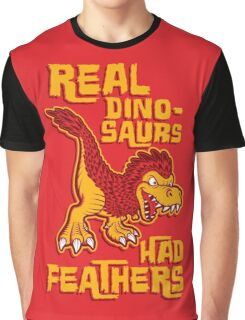 Real dinosaurs had feathers T-shirt Graphique