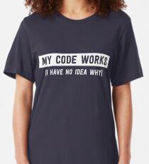 Camiseta ajustada Mi código funciona (no tengo idea de por qué)