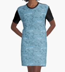 The Hunt - Light Blue Graphic T-Shirt Dress