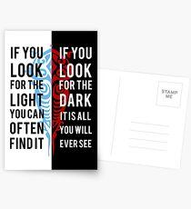 Licht in der Dunkelheit Postkarten