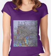Colour Christmas Tower Women's Fitted Scoop T-Shirt