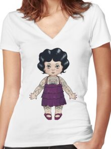 Dollie Women's Fitted V-Neck T-Shirt