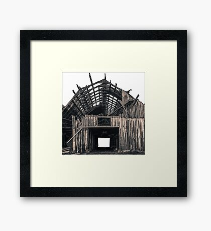 Shambles - Rustic Barn Photography Framed Print
