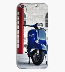 Italian Blue Vespa Rally 200 Scooter iPhone Case