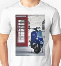Italian Blue Vespa Rally 200 Scooter Unisex T-Shirt